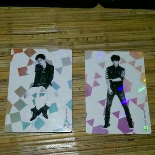 Infinite Official Collection Card Vol. 2 Rare Card 040 - Sungjong 042 - Hoya