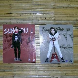 Infinite Official Collection Card Vol 2 Normal Card 073 - Sungkyu (Quantity:2) 074 - Dongwoo (Quantity:2)