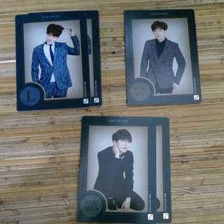 Infinite Official Collection Card Vol 2 Normal Card 085 - L (Quantity:2) 087 - Sungkyu 090 - Woohyun (Quantity:2)