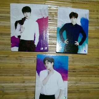 Infinite Official Collection Card Vol 2 Normal Card  093 - Sungyeol (Quantity:2) 094 - Sungkyu 098 - Hoya  ***NO POSTING UNTIL NEXT YEAR***