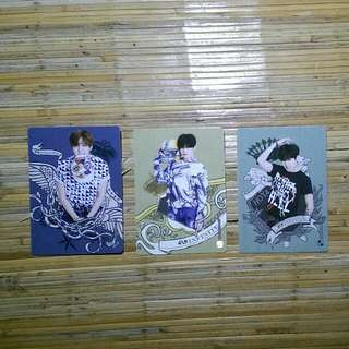 Infinite Official Collection Card Vol 2 Normal Card  116 - Dongwoo 117 - Sungjong 119 - Hoya