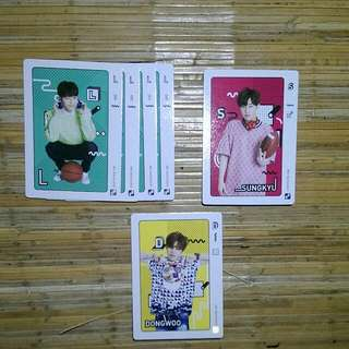Infinite Official Collection Card Vol 2 Normal Card 120 - L (Quantity:4) 122 - Sungkyu 123 - Dongwoo
