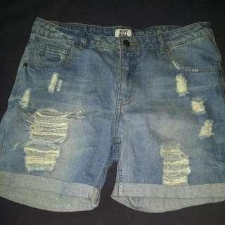 Vero Moda Distressed Boyfriend Shorts