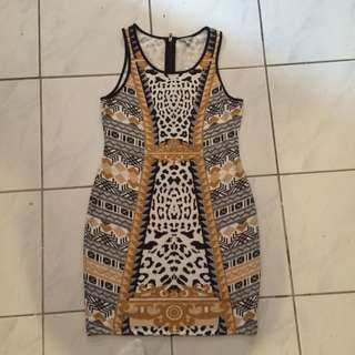 Animal/abstract Print Buffalo Dress