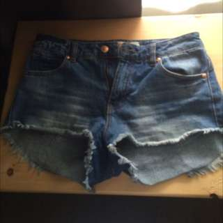 High Waisted Jean Shorts