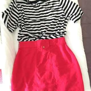 Vintage Pink Skirt Size 10 Circa 1980