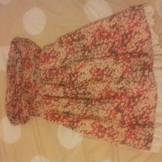 Size M Dotti Brand Strapless Dress