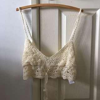 Glassons crochet cream top