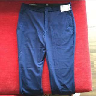 H&M Navy Blue Slim Fit