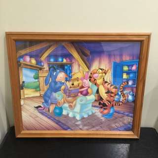 👼Pooh Story Time Wooden Frame