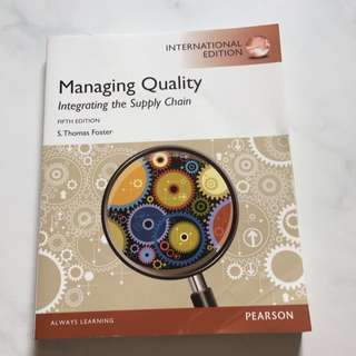 Managing Quality - Fifth Edition