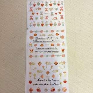鏤空金指甲貼紙 (3小張一組,滿10張免運)