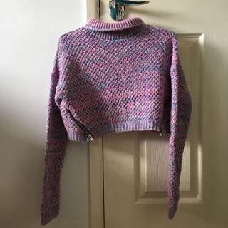 Missguided multicolour knit crop top