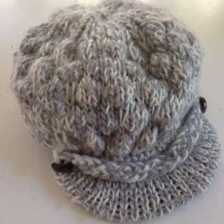 Grey Knitted Beanie