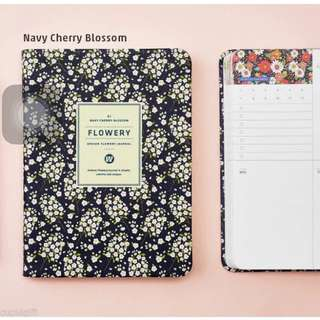Premium Flowery Weekly Journal [S] Diary Planner Scheduler Organizer Cute Agenda