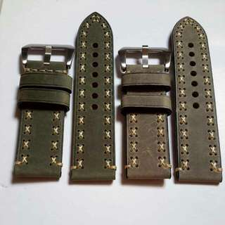 Matte Calf Leather Watch Strap (NEW) 26mm each only 1pc