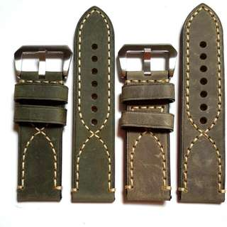Matte Calf Leather Watch Strap (NEW) 22mm, 24mm, 26mm each only 1pc