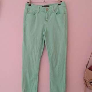 Forever New Green Denim Pants
