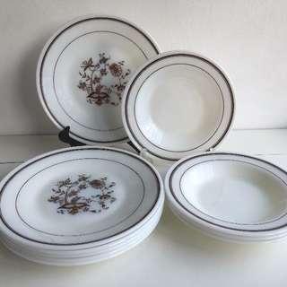 "10 Beautiful JAJ (""Vine, 1983-85"") Pyrex Plates - True Vintage"