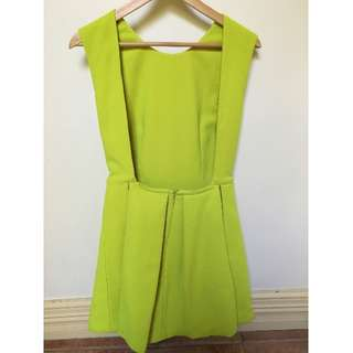 Mossman Chartreuse Party Dress