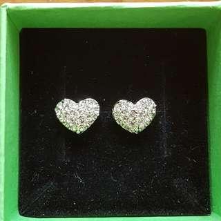 SWAROVSKI Crystal Heart Shape Earrings - Authentic!