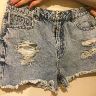 DOTTI DENIM SHORTS