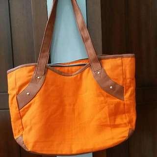 Hand Bag Orange