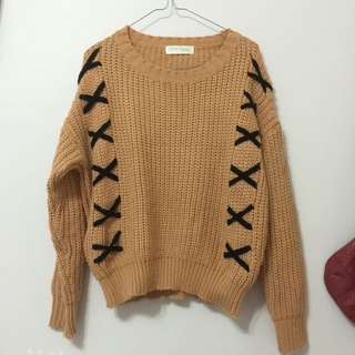 Knotted Knit Sweater