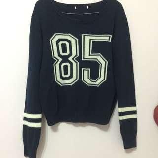 Navy Blue Knit Sweater