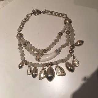 Adorne Costume Necklace Gold