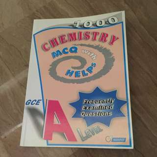 1000 A Level Chemistry MCQ With Helps