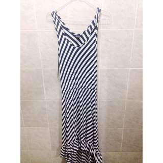 Body&soul Asymeyric Stripe Dress