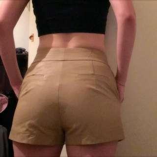 Bardot Leather-look shorts