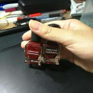 Deborah Lippmann 深紅色亮片指甲油