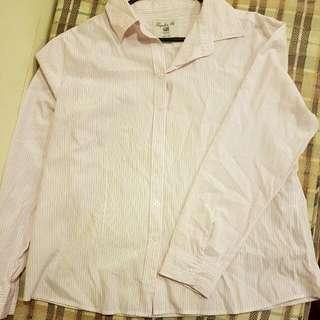 Pink And White Dress Shirt