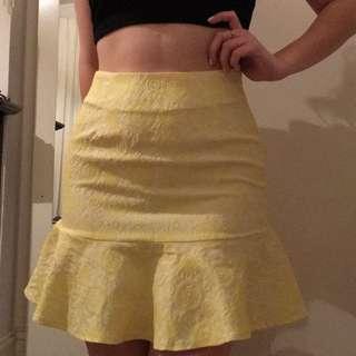 Ezra Yellow Mermaid Skirt