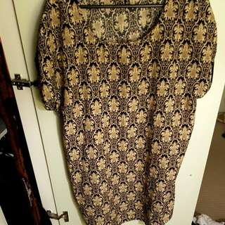 XL Sleeveless Shirt Dress