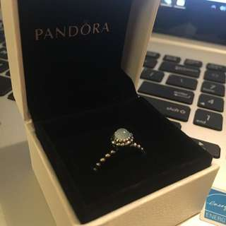 Pandora Aquamarine March Birthstone Ring
