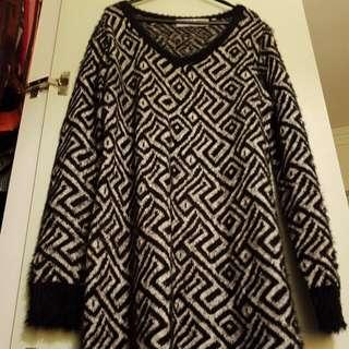 V-Neck Winter Shirt Dress