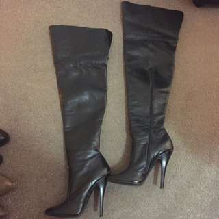 Thigh High 'Cat Women' Leather Boots - Retail For Over $200!
