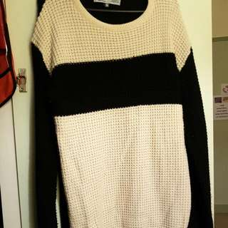 Size16 Cream Coloured Knitted Dress
