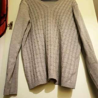 SizeM Grey Knitted Jumper