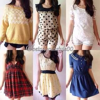 ✅ Dress ✅ Romper ✅ Knits (Dress & Top) ✅ Blouse