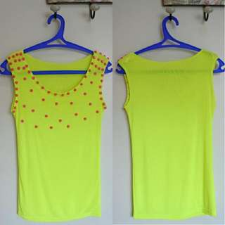 Studded Sleeveless T-shirt