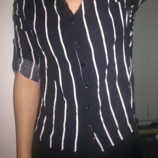 ICE Button Up Striped Long Sleeve Shirt