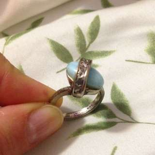 Beautiful Blue Stone Ring With Engravings