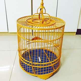 木造鳥籠(附鐵掛勾)
