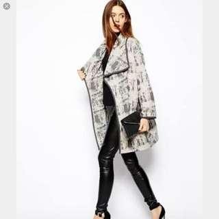 Asos Waterfall Print Jacket Size 8