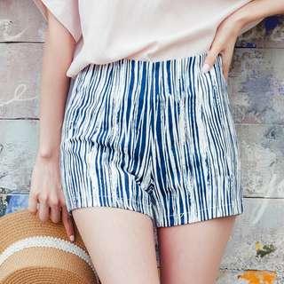 木紋印花修身短褲