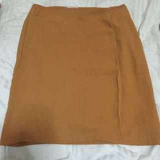 Mustard Skirt From F21 Perfect For Work!